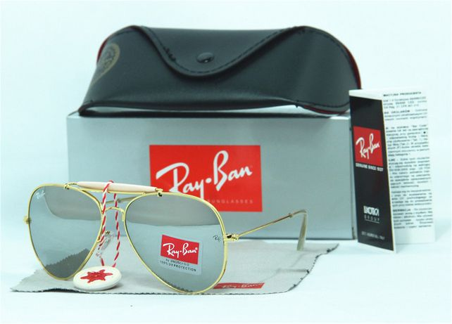 Rayban 3029 rb aviador dourado lente espelhada