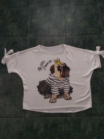 Bluzeczka ciążowa lub XXXL Oversize z Mopsikiem