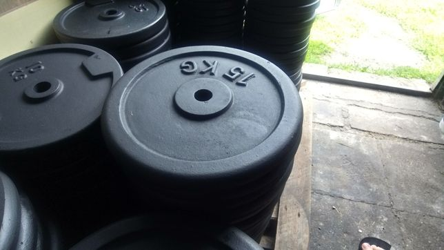 Obciążenie żeliwne Nowe fi 31 15 kg z wysyłką olx