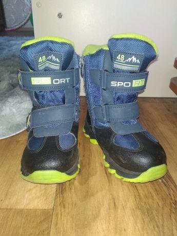 Детские зимние ботинки на овчине 27 размер