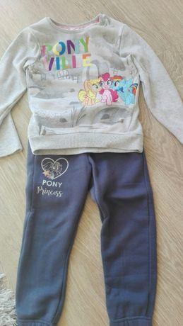 Bluza spodnie dres My Little Pony rozmiar 122 128 cm!