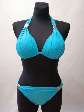 Strój dwuczęściowy Kostium kąpielowy PUSH-UP Błękitny S M, L XL, XXL