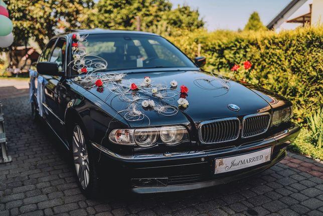 Auto do ślubu klasyczne Bmw 7