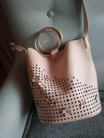 Różowa torba, torebka orsay