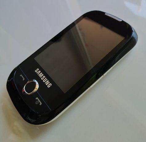 Телефон Samsung GT-S3650 Corby, сенсорный,  чёрный, белый, для ребенка