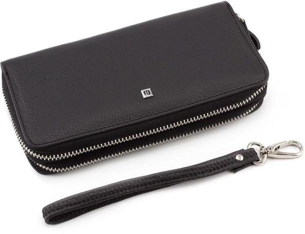 Кожаный мужской клатч - кошелек на две молнии H и F LEATHER.