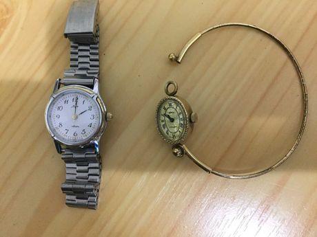 Часы женские времен СССР: Луч (кварц), Чайка (механика), с позолотой