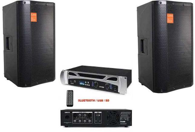 SOM AMBIENTE BARES/CAFÉS - Colunas e Amplificador Bluetooth