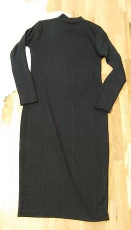 BooHoo sukienka golf 44 XXL czarna jesienna
