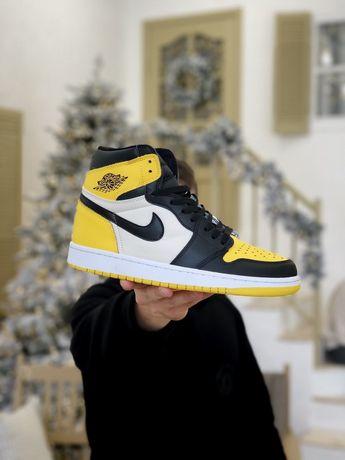 Nike Air Jordan Retro 1 Yellow White buty
