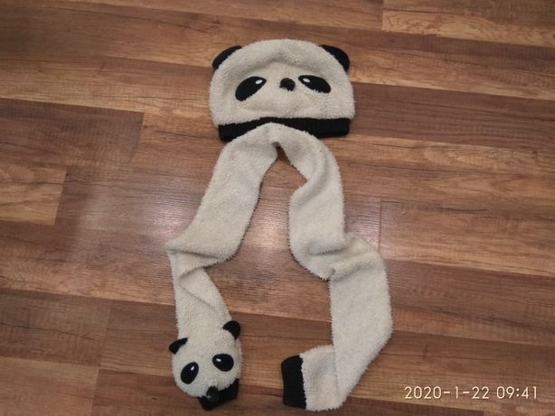 Комплект шапка и шарф на ребёнка 1-4 года