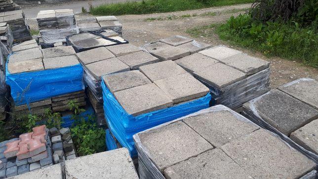 Płytki chodnikowe betonowe 50x50 cm używane ,kostka brukowa używana