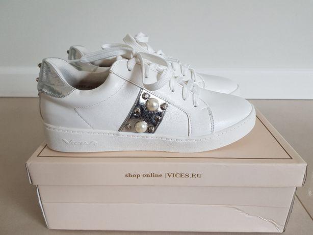 biało srebrne buty sportowe sneakersy r. 38 39 Vices