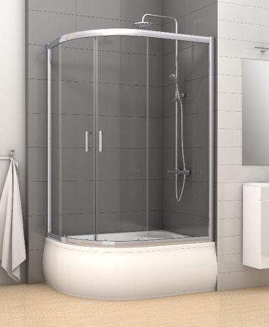 Kabina prysznicowa asymetryczna 100x80 szkło grafit Varia
