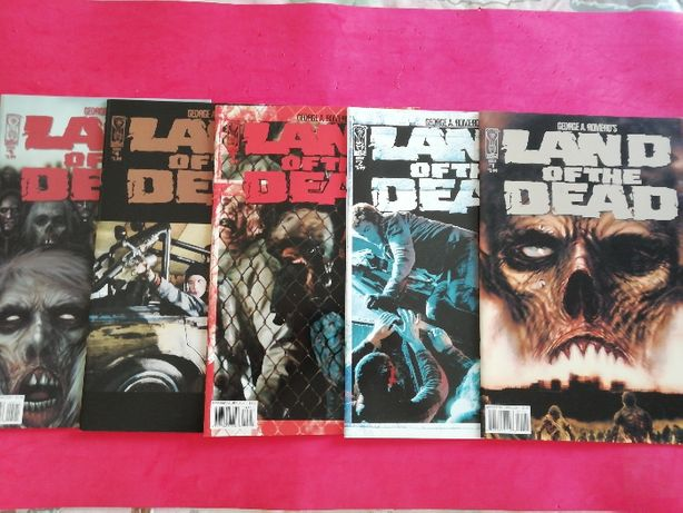 LAND OF THE DEAD #1-5 completo George Romero IDW 2005 Horror