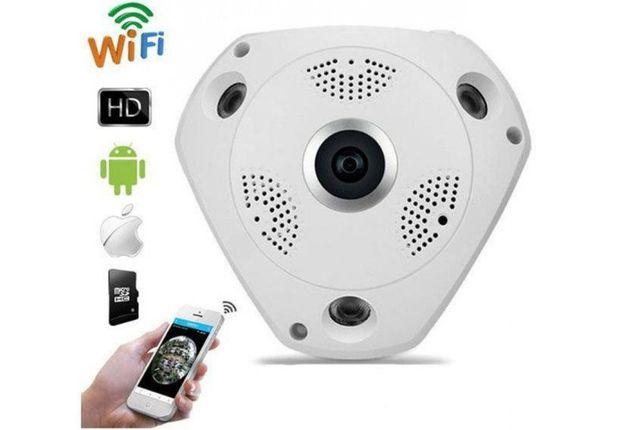Панорамная Wi-Fi IP Камера Видеонаблюдения рыбий глаз XPX 360 VR CAM