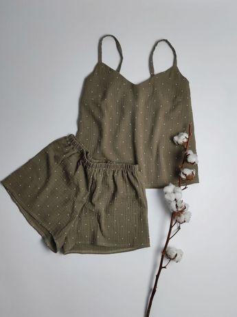 Пижама из муслина,домашний костюм