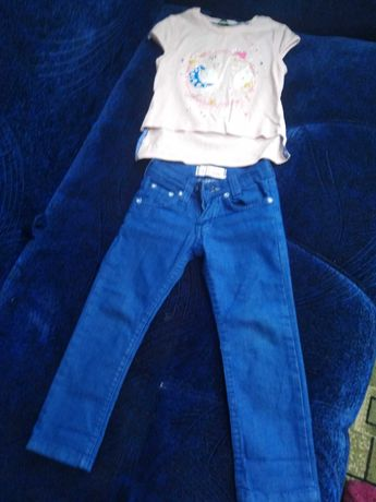 Джинсы Armani Jeans на 2 годика + ПОДАРОК футболка