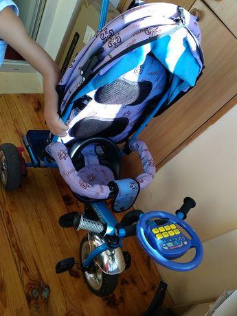 Детский велосипед трехколесный Profi Trike с родительской ручкой