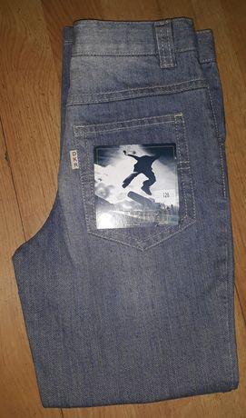 Spodnie jeans 128 nowe Dakar