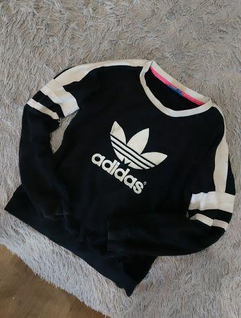 Oryginalna Bluza Adidas Czarno Biała rozm. S