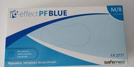 Rękawiczki nitrylowe (niebieskie)