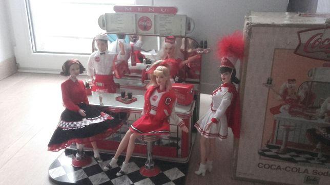 Zestaw Barbie COCA-COLA Soda Fountain Lalki + Bar WYSYŁKA GRATIS