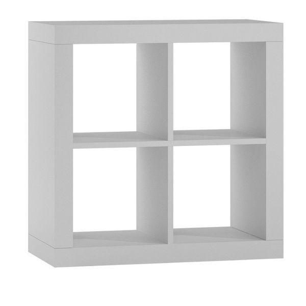 KALAX 2x2 / REGAŁ KOMOROWY szafka 77x77x38 cm / biały mat