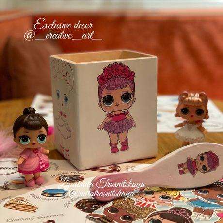 Органайзер для расчёсок Кукла Лол Набор для девочек Расчёска