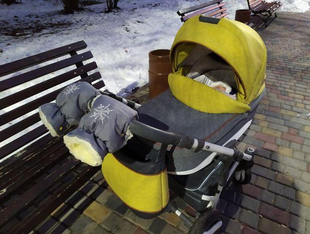 Детская коляска Bexa Ultra 2 в 1 U-13 зеленая люлька прогулка