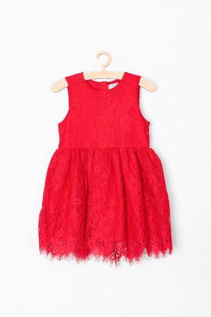 Sukienka 5.10.15 koronka czerwona 80 jak nowa