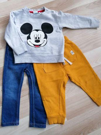 Spodnie h&m 80 bluza pepco 86
