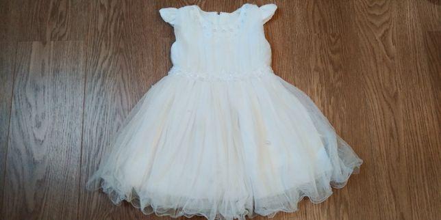 Sukienka balowa ecri 2latka