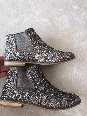 Botas Zara com brilhantes 34