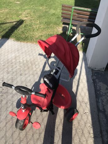 Rowerek dzieciecy czerwony pchacz
