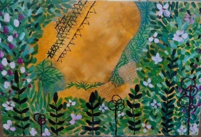"Картина маслом ""Интуиция"", 40х50, холст"