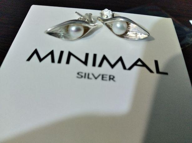 Minimal silver серьги серебряные