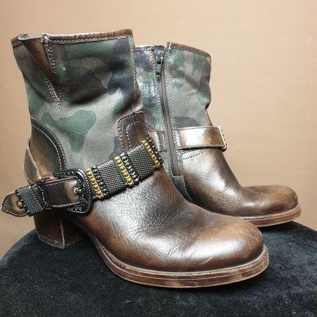 кожанные ботинки полуботинки Португалия 38 р