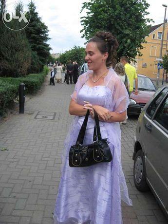 Suknia wizytowa fioletowa
