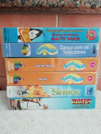 Cassetes VHS infantis