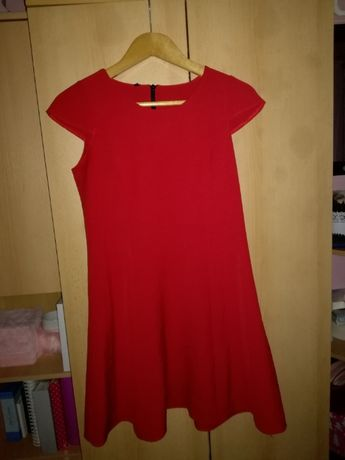 Krótka czerwona sukienka suknia S 36