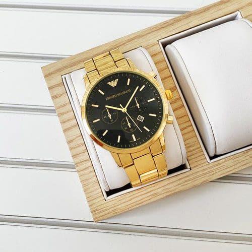 Продам часы Emporio Armani QQ Gold-Black 700 гр Мариуполь - изображение 1