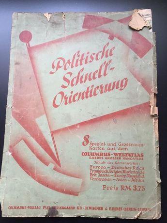 Mapy polityczne z 1943r. Produkcja niemiecka