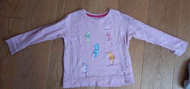 Różowa bluza Endo bawełna r.134