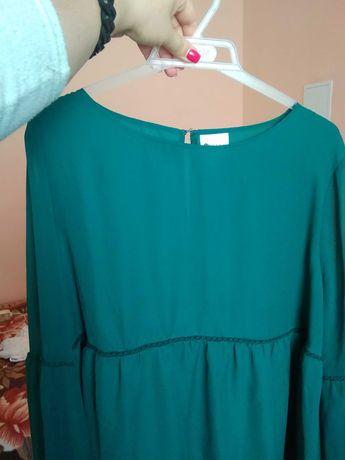 Блузка темно-зелена