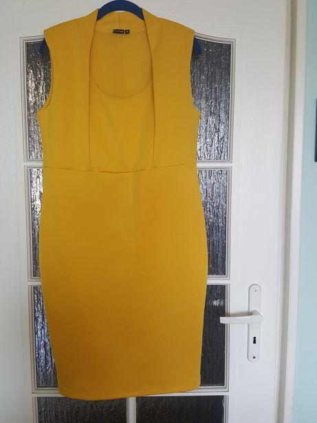 NOWA sukienka narcyz Body Flirt rozmiar 40/42, żółta, musztardowa