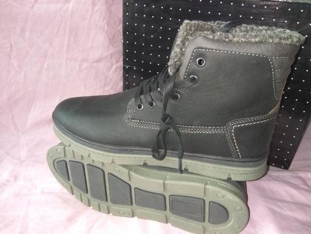 28см Мужские ботинки Soviet Chukka Зимние Мех Кожаные