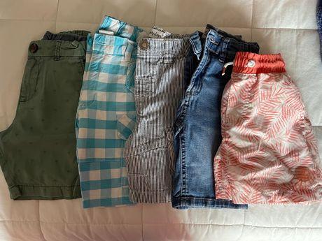 5 calções T:4A da HeM, Girândola, Zippy, early days e Skinny