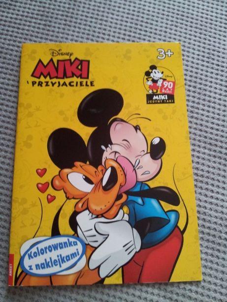 Myszka Miki kolorowanka z naklejkami