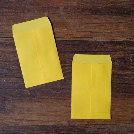 Pack 20 envelopes amarelos 10x7cm